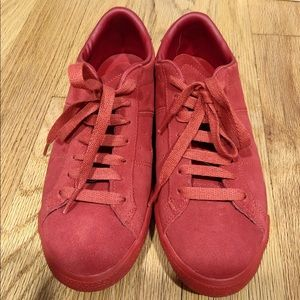 onitsuka tiger Asics red suede sneakers US 7